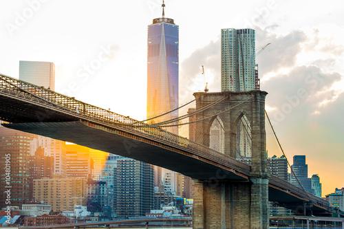 Fototapeta Brooklyn Bridge, Nowy Jork panoramiczna