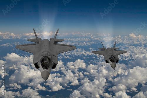 Canvas Print F-35 modern stealth fighter