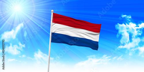Wallpaper Mural オランダ  国旗 空 背景