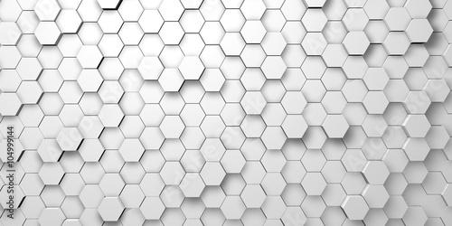 Canvastavla Digital hexagons background