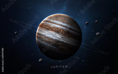 Obraz na plátně Jupiter - High resolution 3D images presents planets of the solar system