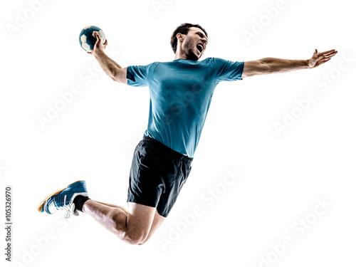 Obraz na plátne man handball player isolated