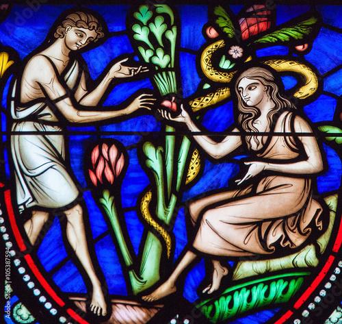 Slika na platnu Adam and Eve and the Original Sin