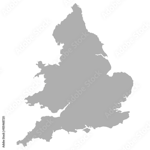 England map with Wales Fototapet