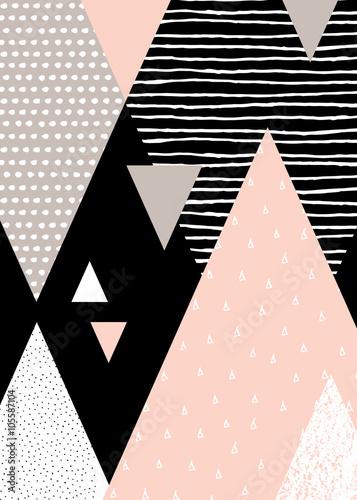 Abstrakcyjny geometryczny krajobraz