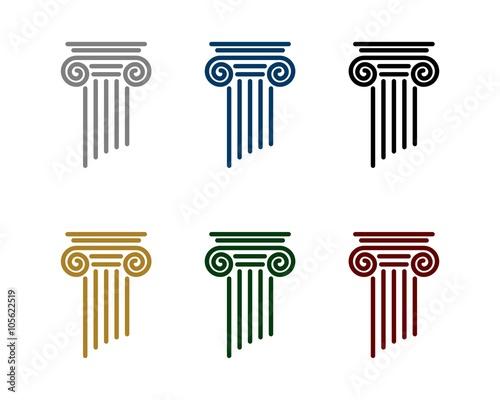 Fototapeta Pillar Logo for Law Office