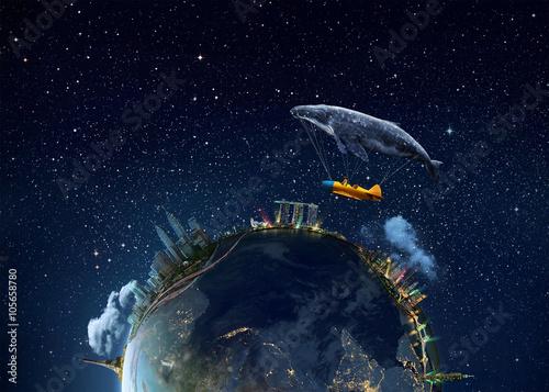 Obraz na płótnie Kosmiczny widok od NASA