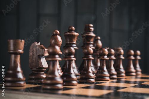 Obraz na plátně Zblízka šachových figurek