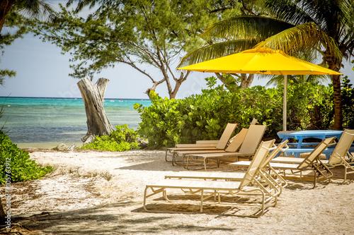 Valokuvatapetti Beach in Rum Point on Grand Cayman island