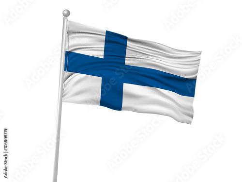 フィンランド  国旗 旗 アイコン Poster Mural XXL