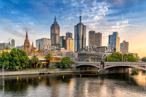 Fototapeta premium Centralna dzielnica biznesowa Melbourne