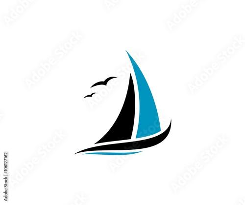 Fotografie, Obraz Sailing logo