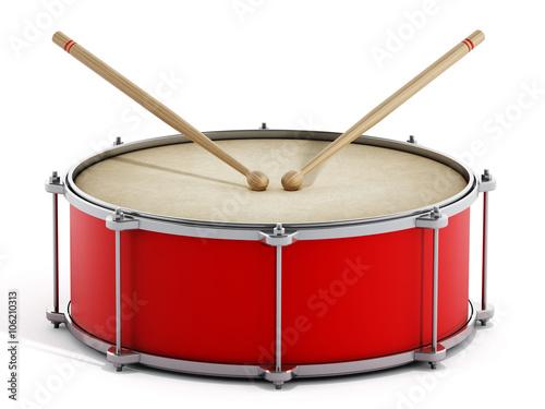 Billede på lærred Red drum with stick