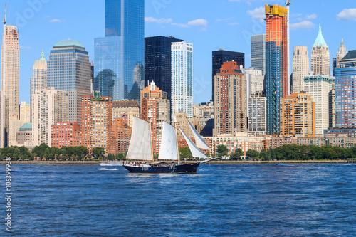 Fotografie, Obraz Manhattan Skyline over Hudson River