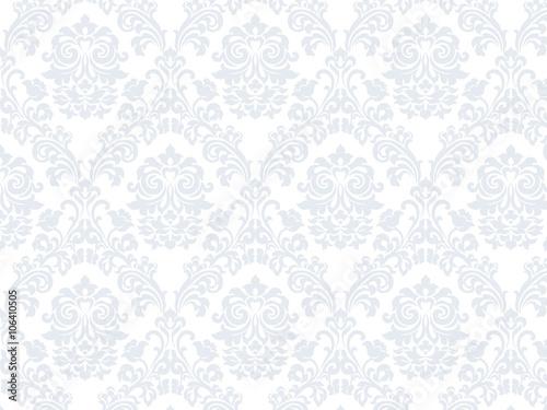 Fototapeta Floral ornament damask pattern