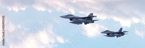 Canvas Print Fighter jet / 3d render