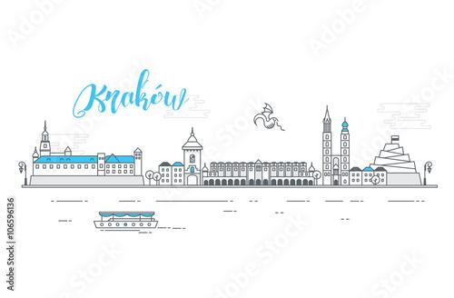Obraz na plátně Panorama miasta Kraków