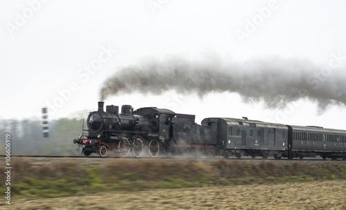 Stampa su Tela Old steam train