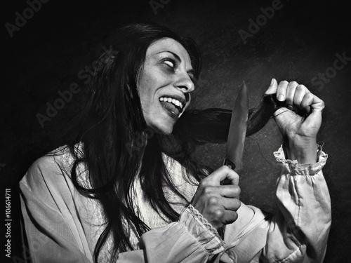Fotografiet woman before exorcism