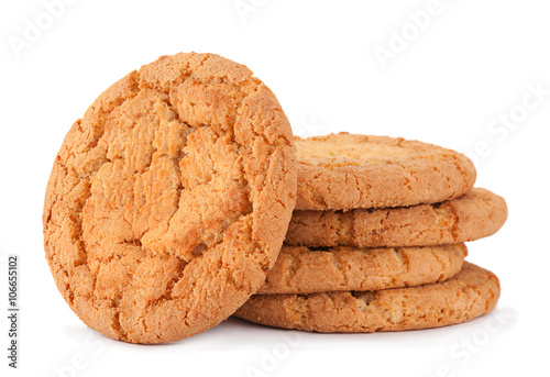 Stampa su Tela Baked biscuit on white