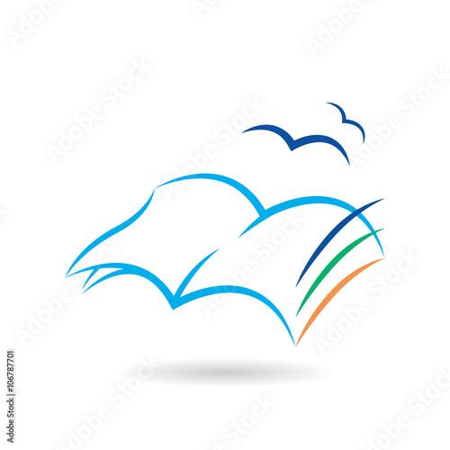 Slika na platnu Leggere un libro ti fa volare con la fantasia