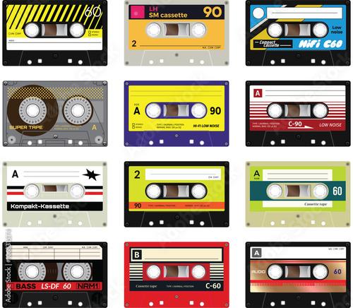 Obraz na plátně Vintage cassette tapes vol 2