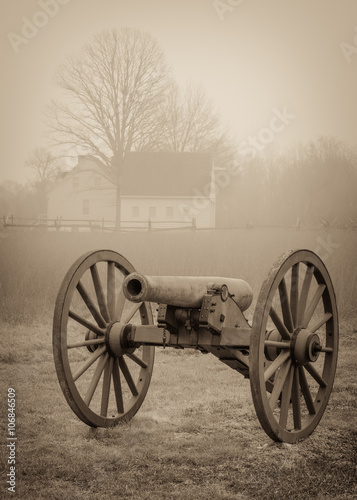 civil war cannon Fototapete