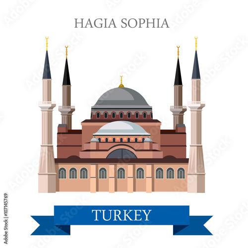 Obraz na plátně Hagia Sophia in Istanbul Turkey tourist attraction landmark