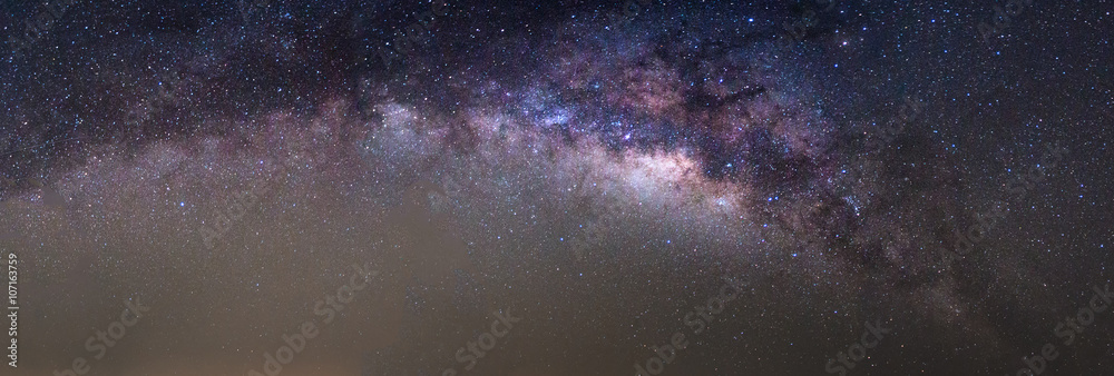 Panorama of milky way found at sky of Thailand
