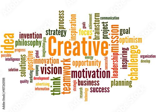 Creative, word cloud concept 7