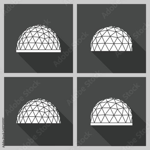 Leinwand Poster Geodätische Kuppel Vektor flach