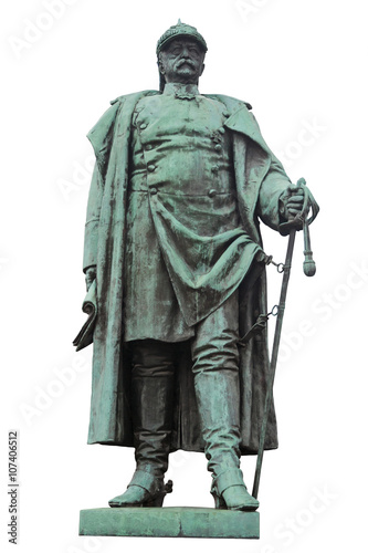 Photographie The isolated Bismarck Statue in Frankfurt - Hoechst, Germany