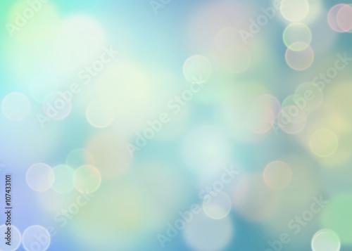 Dreamy bokeh in blauw