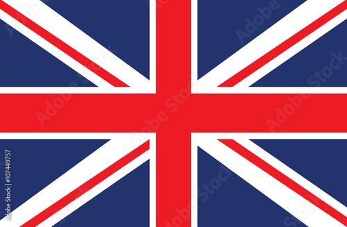 Vector of United Kingdom flag. Fototapete