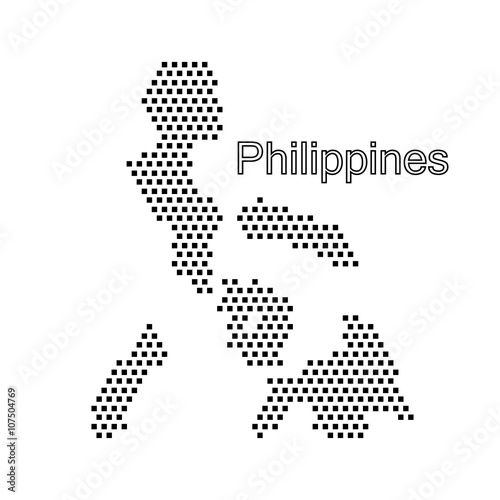 Wallpaper Mural map of Philippines,dot