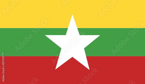 Photographie Burma flag