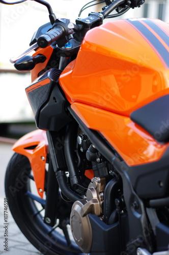 Motorrad orange