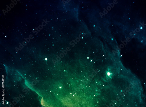 Canvas Print Space nebula artisan for abstract design
