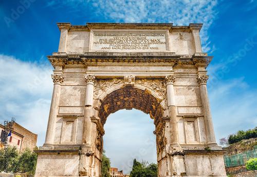 Obraz na płótnie The iconic Arch of Titus in the Roman Forum, Rome