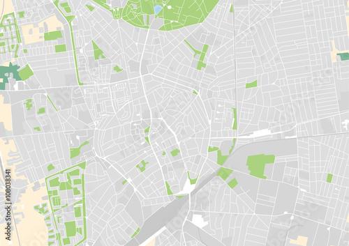 Fotografie, Obraz vector city map of Debrecen, Hungary