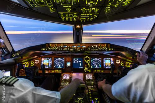 Slika na platnu Pilots at work