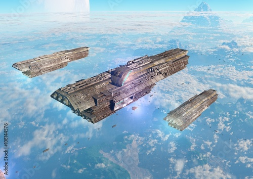Fototapeta planetary invasion