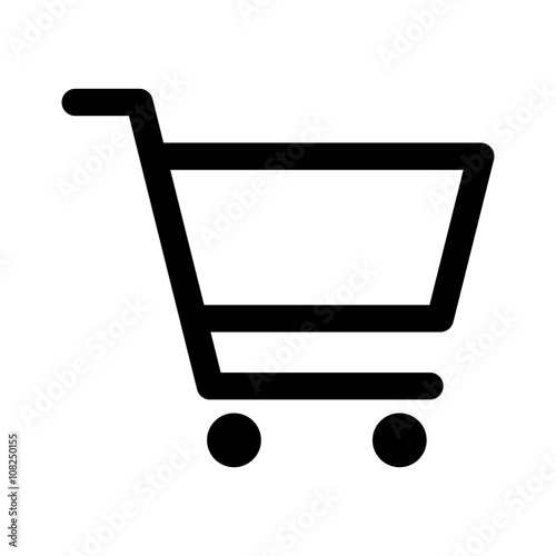Fotografía Shopping cart or trolley line art icon for apps and websites