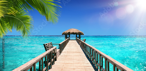 Fotografia Input Dock For The Tropical Paradise