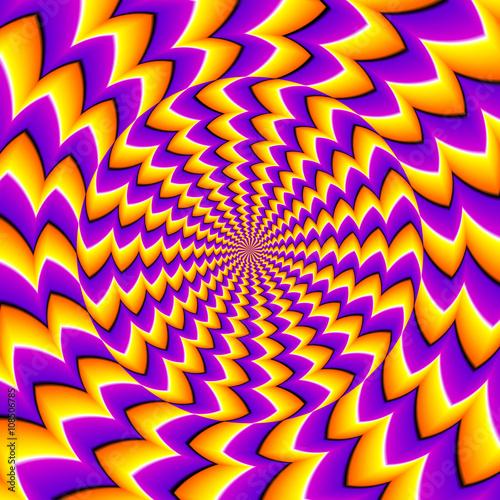 Fototapeta premium Pomarańczowa iluzja spinowa