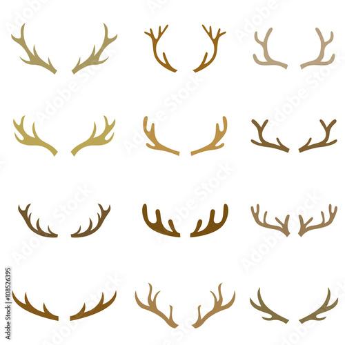 Foto collection set of deer head