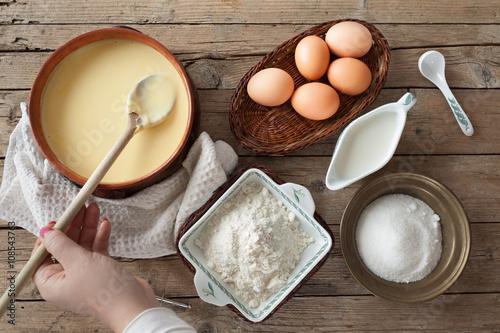 Canvas-taulu Fresh Prepared Custard Cream