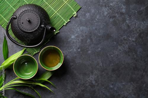 Obraz na plátně Zelený japonský čaj