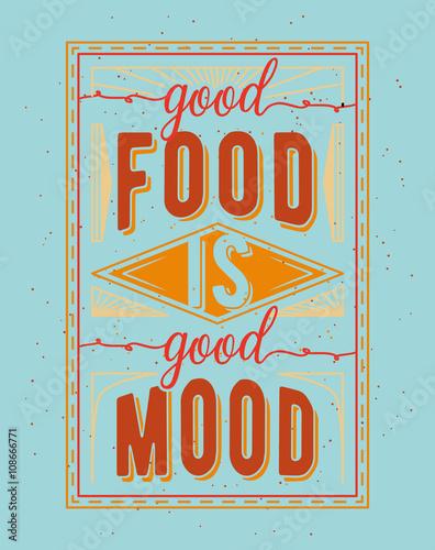 Fototapeta premium Typograficzne cytat Vintage żywności związane