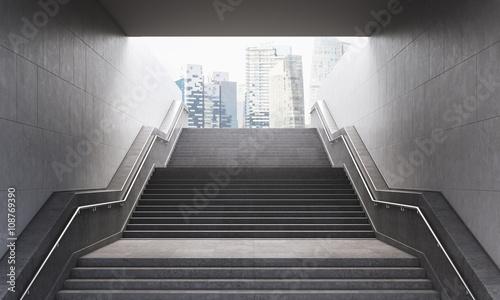Slika na platnu Stairs to the city